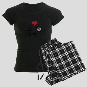 I Love Sushi Women's Dark Pajamas