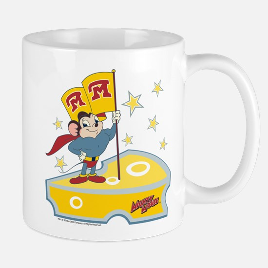 Mighty Mouse: Flag in Cheese Mug