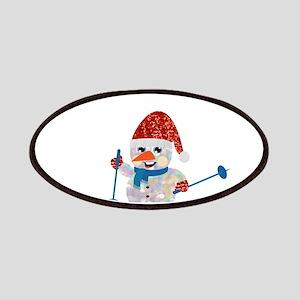 xmas ski snowman Patch