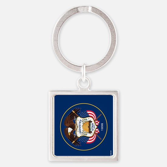 Utah State Flag Square Keychain