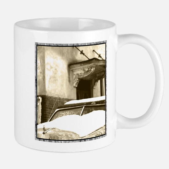 Sepia Snow Mugs