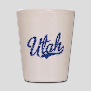 Utah State Script Font Vintage Shot Glass
