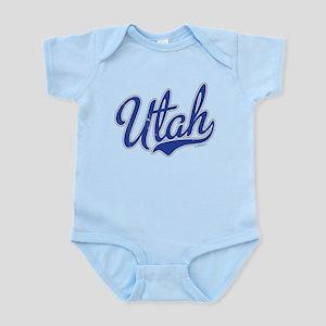 Utah State Script Font Vintage Body Suit