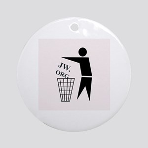 JW ORG Garbage Can Round Ornament
