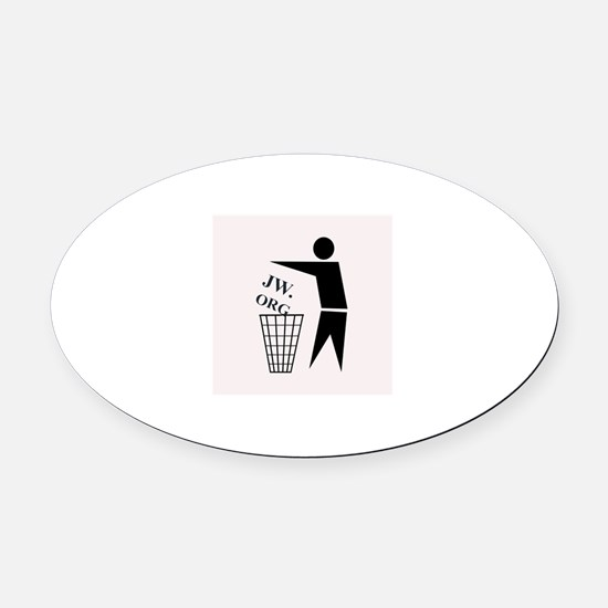 JW ORG Garbage Can Oval Car Magnet