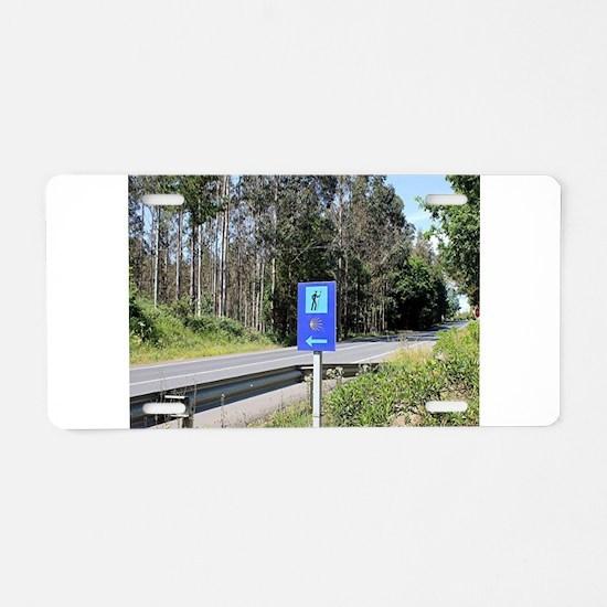 El Camino walker sign, Spai Aluminum License Plate