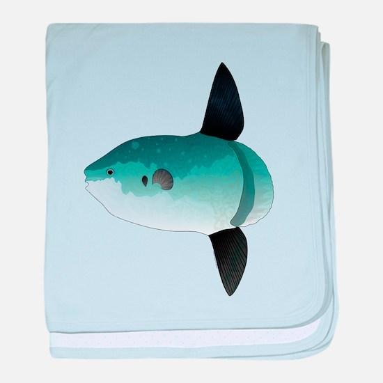 Mola Mola Ocean Sunfish baby blanket