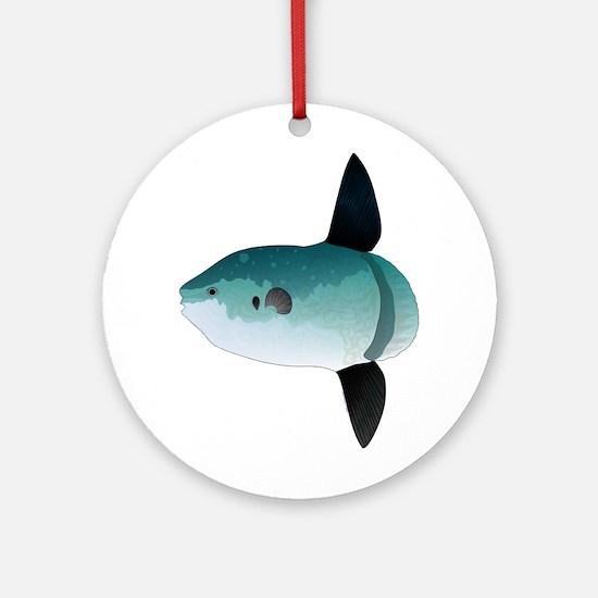Mola Mola Ocean Sunfish Round Ornament