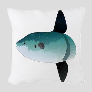 Mola Mola Ocean Sunfish Woven Throw Pillow