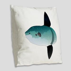 Mola Mola Ocean Sunfish Burlap Throw Pillow