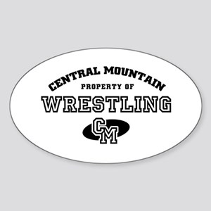 Central Mountain Wrestling 4 Oval Sticker