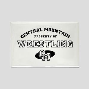 Central Mountain Wrestling 4 Rectangle Magnet