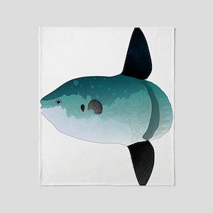 Mola Mola Ocean Sunfish Throw Blanket
