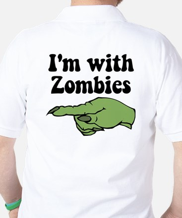 I'm With Zombies Halloween Golf Shirt