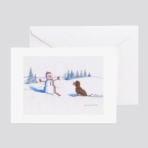 IWS and Snowman #4 Greeting Cards
