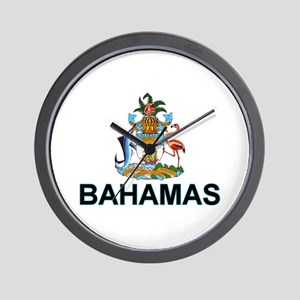 bahamas-arms-labeled Wall Clock