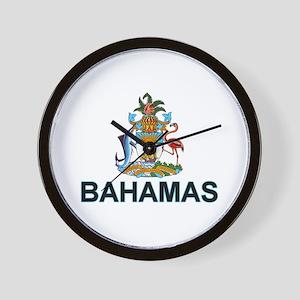 bahamas-arms-labeled Wall Clock