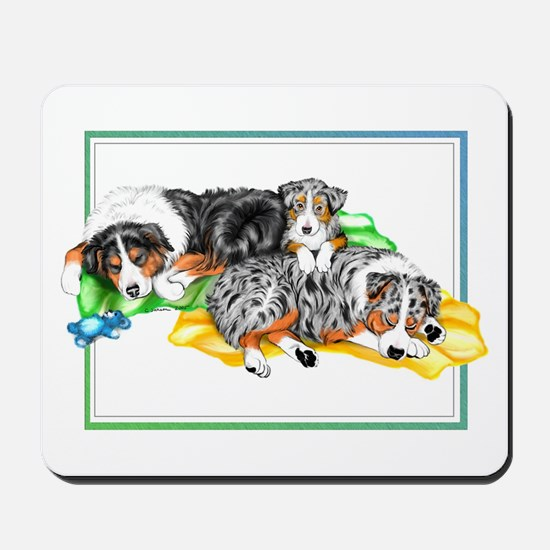 Aussie Family Nap Mousepad