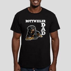 ROTTWEILER DAD Men's Fitted T-Shirt (dark)