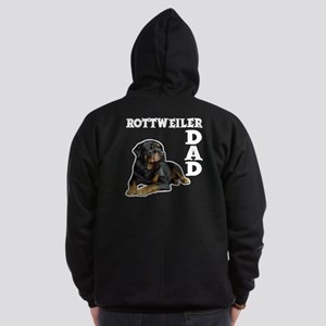 ROTTWEILER DAD (both sides) Zip Hoodie (dark)