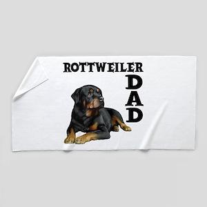 ROTTWEILER DAD Beach Towel