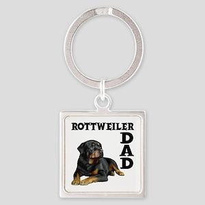 ROTTWEILER DAD Square Keychain