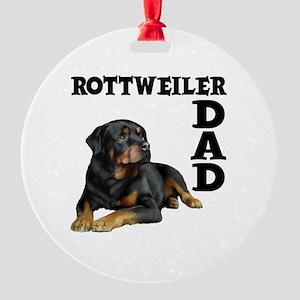 ROTTWEILER DAD Round Ornament
