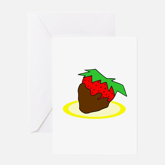 Chocolate Dipped Strawberry Greeting Card