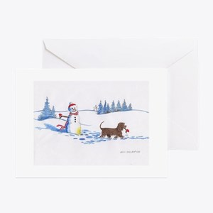 IWS and Snowman #9 Greeting Cards