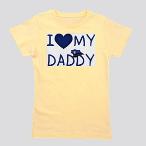I Love My Police Daddy Kids T-Shirt