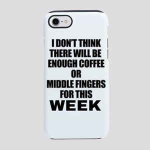 Coffee and middle finger hum iPhone 8/7 Tough Case
