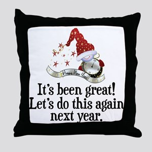 New Years Throw Pillow