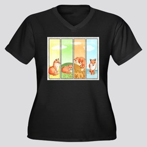 Season of the Foxes Plus Size T-Shirt