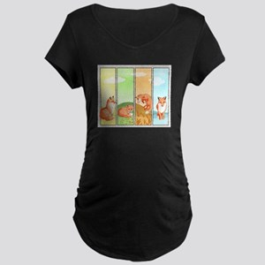 Season of the Foxes Maternity T-Shirt