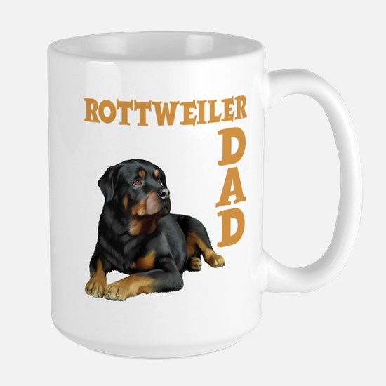 ROTTWEILER DAD Large Mug