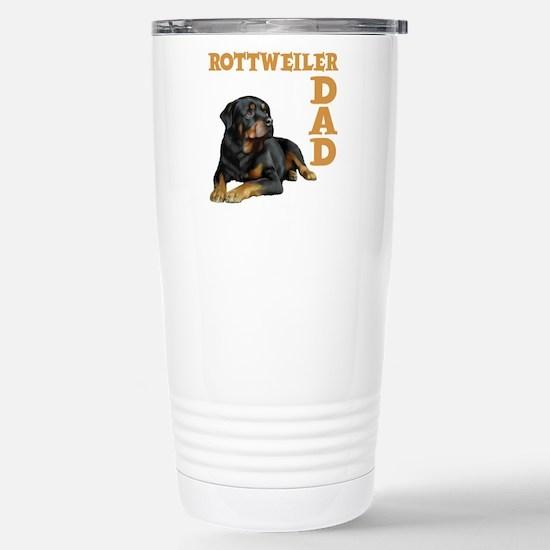 ROTTWEILER DAD Stainless Steel Travel Mug