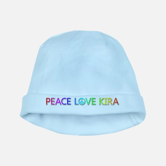 Peace Love Kira baby hat