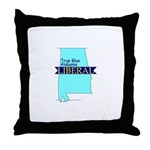 True Blue Alabama LIBERALThrow Pillow