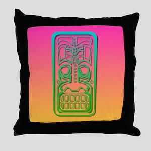 Sunset Tiki Throw Pillow