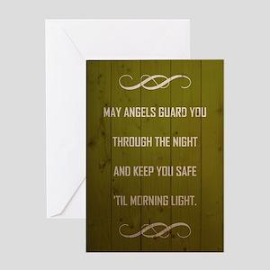MAY ANGELS GUARD... Greeting Card