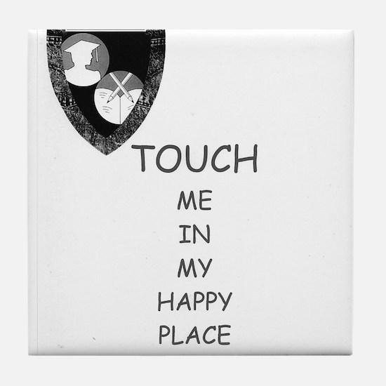 Cute Ashlies super fun happy place Tile Coaster
