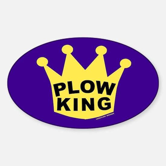 Cute Plowing Sticker (Oval)