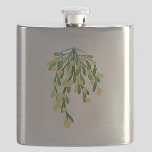 christmas mistletoe Flask
