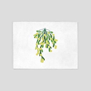 christmas mistletoe 5'x7'Area Rug