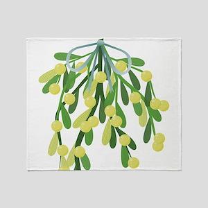 christmas mistletoe Throw Blanket