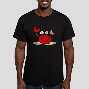 Too Cute Crab Men's Fitted T-Shirt (dark)