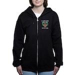 Women's Zip Hoodie In Black Or Charcoal