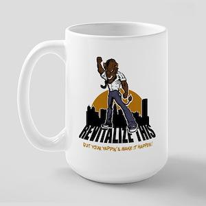 BUFFALO - revitalize this - q Large Mug