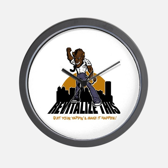 BUFFALO - revitalize this - q Wall Clock