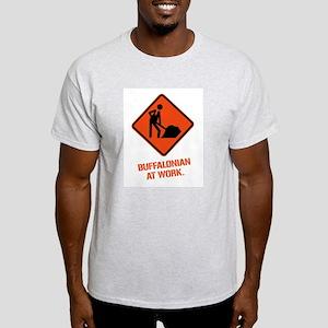 BUFFALONIAN at WORK Ash Grey T-Shirt